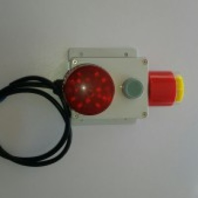 Photo of Commercial External Alarm. Can be connected to Model 10NR or Chlorine Electrical box